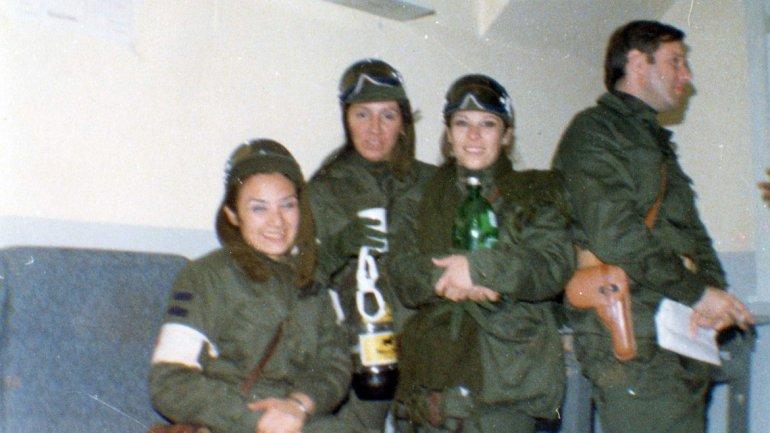 Elda Solohaga, Esther Moreno y Stella Morales, destinadas a la evacuación aeromédica.