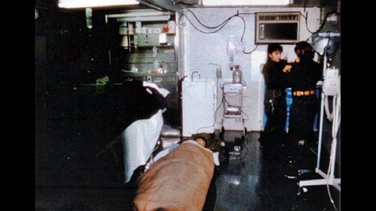 Enfermeras, en la sala de terapia intensiva del hospital reubicable de Comodoro Rivadavia.