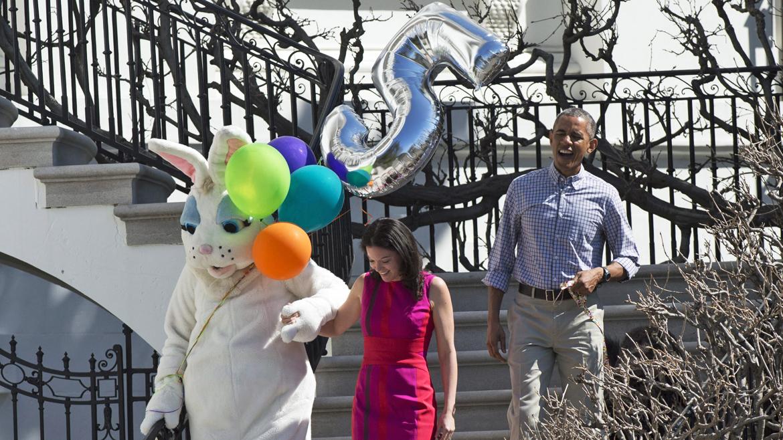 Los Obama celebraron Pascua en la Casa Blanca