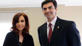 Juan Manuel Urtubey junto a Cristina Kirchner, cuando todavía eran aliados (Imagen de archivo)