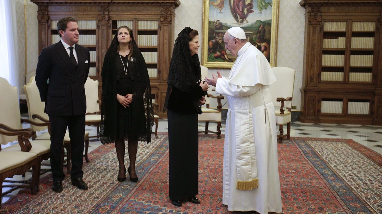 La visita de Silvia de Suecia al Papa Francisco