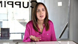 La gobernadora electa durante una entrevista con Infobae