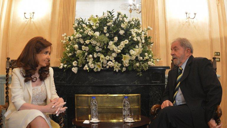 Cristina Kirchner y Lula Da Silva reunidos, cuando la ex mandataria aún estaba en el poder