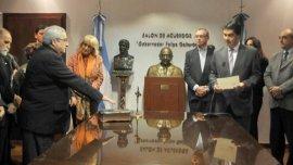 Jorge Capitanich junto a Juan Carlos Goya, en la jura como secretario de Derechos Humanos.