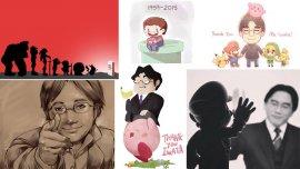 Una de las fotos que formaron parte del homenaje al fallecido Satoru Iwata