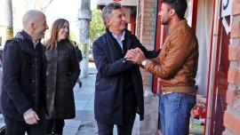 Macri recorrió hoy el municipiode Pilar junto a María Eugenia Vidal y el candidato a intendente local, Nicolás Ducoté.