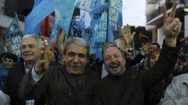Pergamino, Los precandidatos a gobernador y vice del Frente para la Victoria, Aníbal Fernández y Martín Sabbatella, encabezaron un acto en lo localidad de Pergamino..jpg