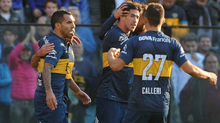 Boca resistió los embates, vence a Godoy Cruz y es líder
