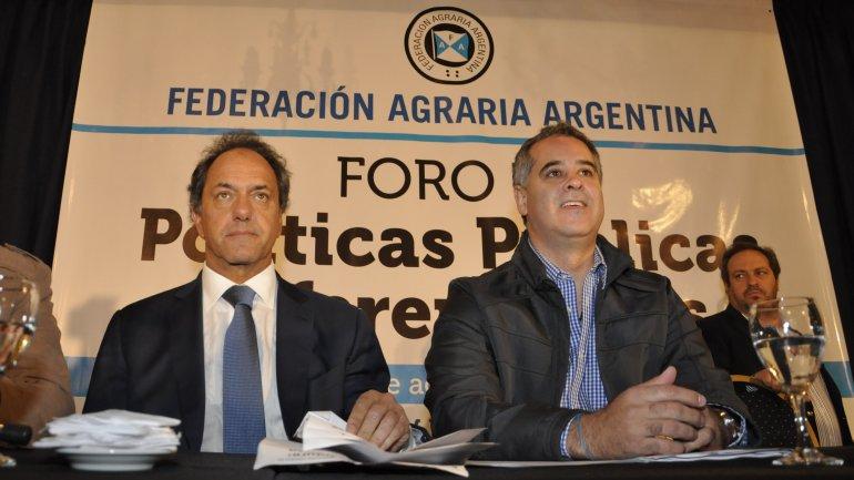 Daniel Scioli con Alejandro