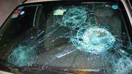 Imagen de uno de los vehículos que apareció destruido en la Ciudad