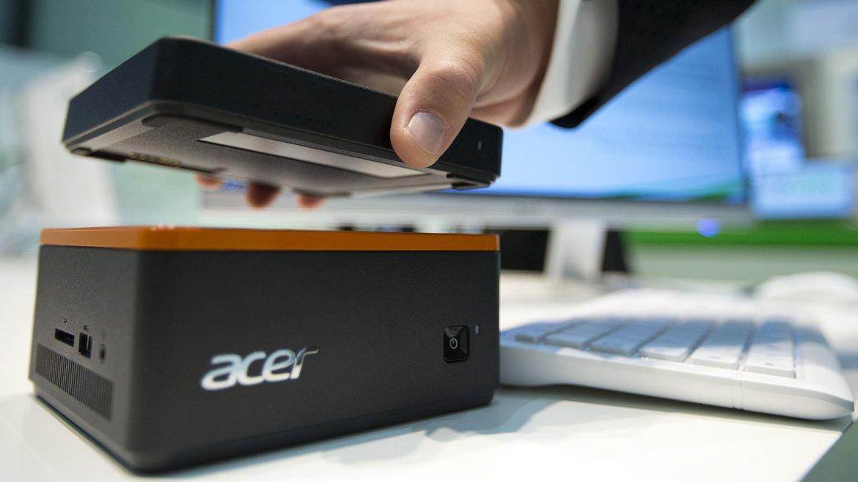 De todos los nuevos equipos presentados por Acer en IFA, el Revo Build es el más original. Se trata de un mini PC separado en pequeños módulos magnéticos apilables