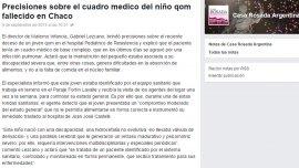 El Gobierno negó que Oscar Sánchez haya muerto por desnutrición y subió su justificación al Facebook