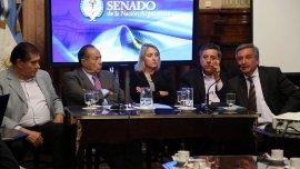 Senadores de la oposición se reunieron con productores lecheros