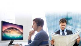 Monitor curvo de Samsung