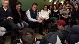 Sergio Massa en Necochea, donde presentó su plan para la educación