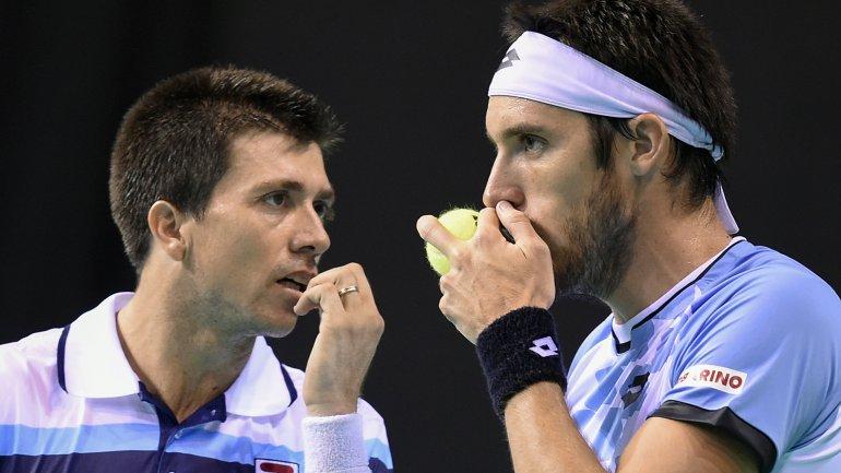 Berlocq y Mayer - Davis Cup - AFP