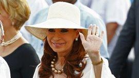 Cristina Kirchner durante su visita a Cuba