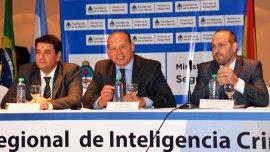 Sergio Berni, Sebastián Fernández Ciatti y Juan Carlos Mena