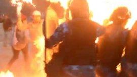 El momento del ataque contra los policías de Salta