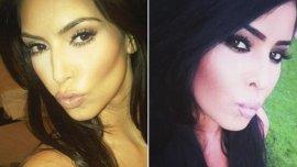 Dos bellezas. Kim Kardashian y Myla Sinanaj