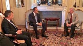 Daniel Scioli y Tabaré Vázquez tuvieron una reunión en la Residencia presidencial Suarez, de la capital uruguaya. También estuvo presente el gobernador de Entre Ríos, Sergio Urribarri.