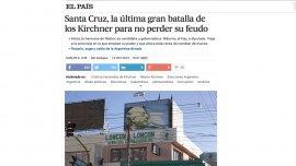 Captura del artículo publicado en la edición internacional de El País