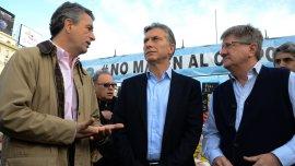 Mauricio Macri junto a dirigentes rurales
