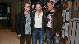 Jorge Gaggero, Víctor Santa María y Juan Palomino
