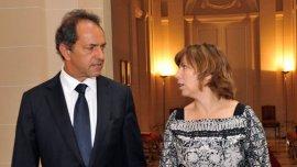 Silvina Batakis con Daniel Scioli