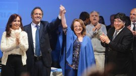 Alicia Kirchner fue elegida gobernadora pero la UCR objeta la ley de lemas