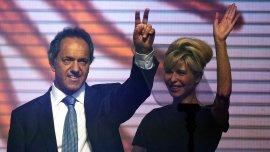 Karina Rabolini defendió la candidatura de Daniel Scioli