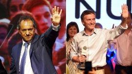 Daniel Scioli y Mauricio Macri buscan los votos del interior del país