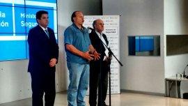 Juan Martín Mena, Sergio Berni y Oscar Parrilli