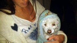 La sobrina nieta de Jorge Bergoglio con su perro