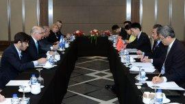 Antes del comienzo oficial del G20, el ministro de Asuntos Exteriores de China, Wang Yi, se reunió con el canciller argentino Héctor Timerman y el ministro de Planificación Federal Julio De Vido