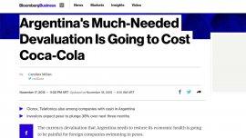 Bloomberg señala que compañías extranjeras tienen atrapados en Argentina miles de millones de pesos.