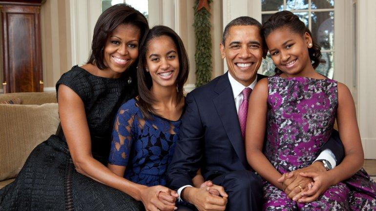 Familia Obama: Michelle, Malia, Barack y Sasha