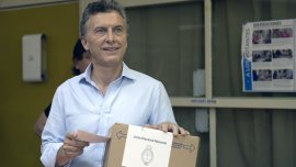 Mauricio Macri votó pasadas las 11