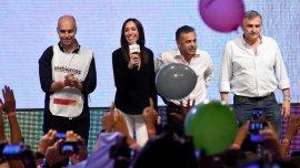 Los cuatro gobernadores electos de Cambiemos fueron los primeros en proclamar a Macri como Presidente