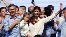 Macri, Awada y su hija Antonia, la frescura de la nueva pareja presidencial