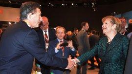 El primer cara a cara que tuvieron Mauricio Macri y Angela Merkel fue en Colonia, en diciembre de 2014.