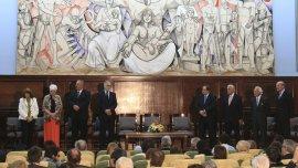 El homenaje tuvo lugar en la Facultad de Derecho de la UBA