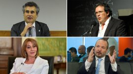 Alejandro Vanoli, Tristán Bauer, Alejandra Gils Carbó y Martín Sabbatella