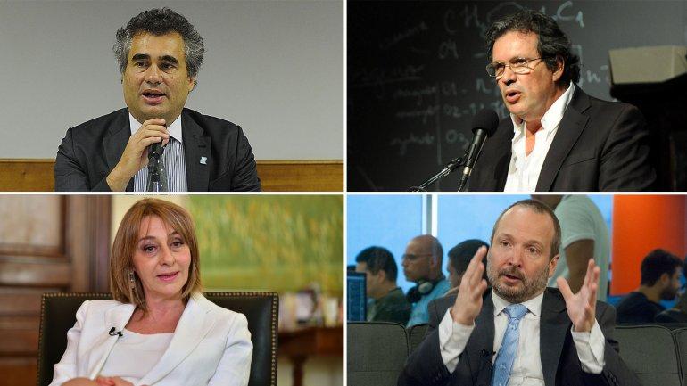 Alejandro Vanoli, Tristán Bauer, Alejandra Gils Carbó.y Martín Sabbatella