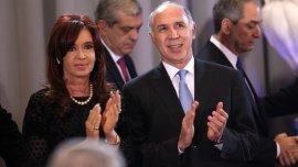 Cristina Kirchner, junto al presidente de la Corte Suprema, Ricardo Lorenzetti.