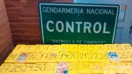 Un hombre fue detenido con 40 ladrillos de cocaína en un ómnibus