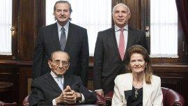 Carlos Fayt, en su última reunión de acuerdo de la Corte Suprema