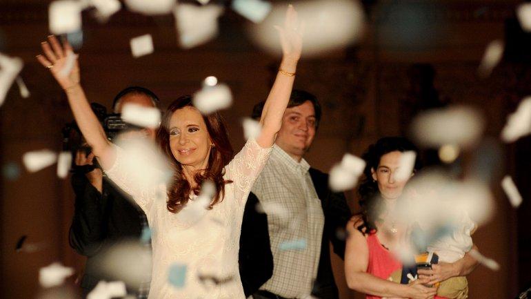 Cristina Kirchner en su último acto frente a militantes.