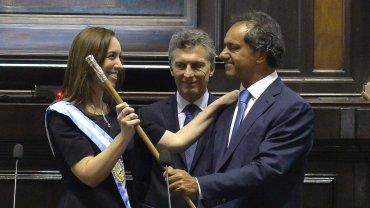 María Eugenia Vidal y Daniel Scioli protagonizaron un fuerte cruce