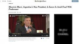 La crónica de The New York Times, colgada en el sitio web.